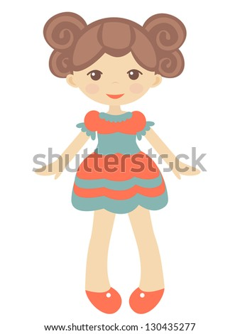 an illustration of cute doll
