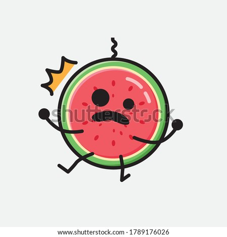 An illustration of Cute Watermelon Vector Character