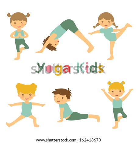 an illustration of cute yoga