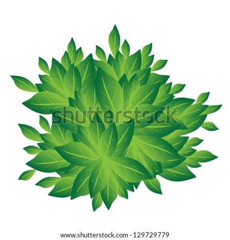 An Illustration of Landscaping Tree Symbols or Isometric Tree or Bush for Garden Decoration
