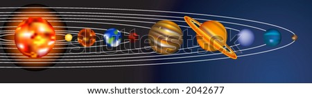 an illustration of our solar system