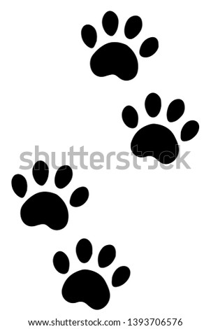 An illustration of paws of a dog