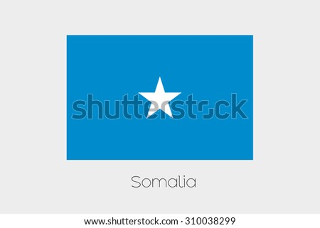 An Illustration of the flag, with name, of the country of Somalia #310038299
