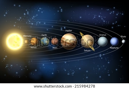 an illustration of the planets