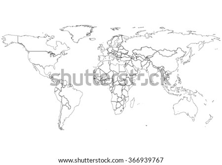 World map a clickable map of world countries detailed world map white outline world map vector download free vector art stock world map with country borders gumiabroncs Image collections