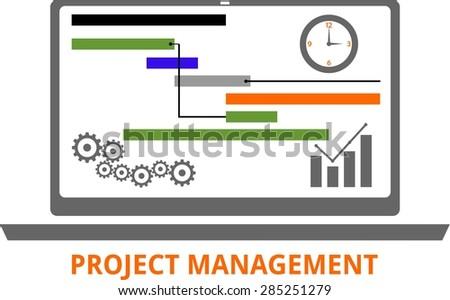 An illustration showing a project management concept