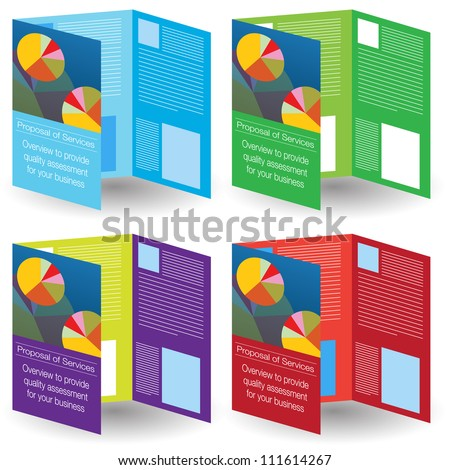 An image of a brochure icon set.