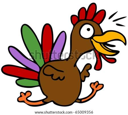 An image of a cartoon turkey character.