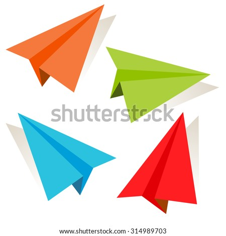 an image of a 3d paper airplane