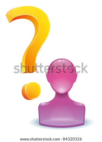 An image of a man with a question mark