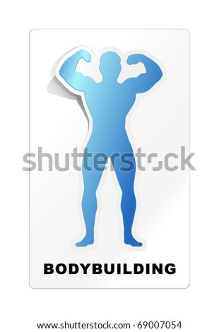 An image of a nice modern bodybuilding sticker