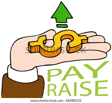 An image of a pay raise business hand.
