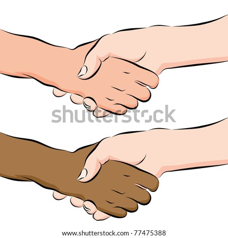 An image of a people shaking hands line drawing.