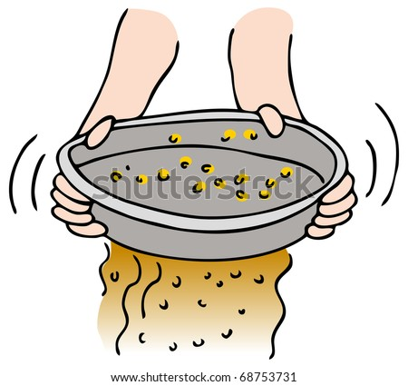 An image of a person panning for gold.