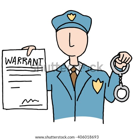 stock-vector-an-image-of-a-police-officer-holding-a-arrest-warrant-406018693 How Does A Bench Warrant Work