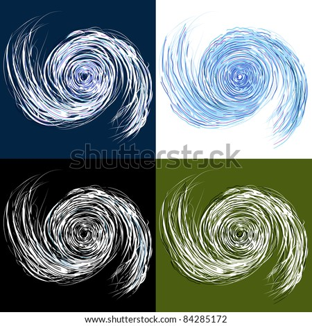 An image of a set of hurricane drawings.