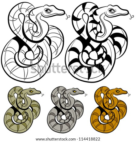 an image of a snake drawing