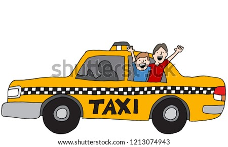 an image of a two friends taxi