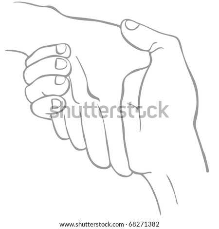 An image of a two hands shaking in a line art style.
