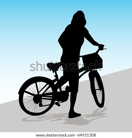 an image of a woman riding her
