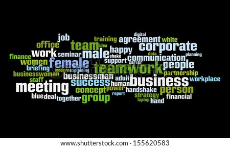 An image of nice Business text cloud