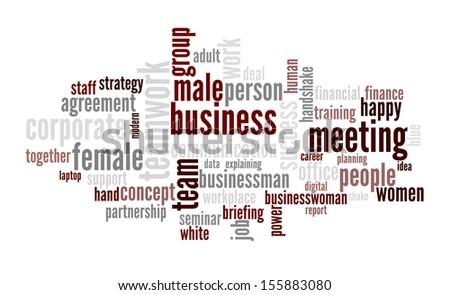An image of nice Business text cloud - stock vector