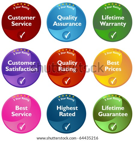 An image of 5 star rating buttons.