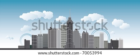 an imaginary big city with