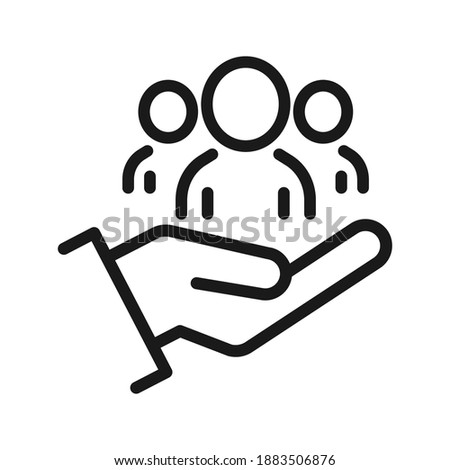An inclusive workplace. Employee's Protection Filled Outline icon vector illustration. Color editable. EPS 10 Foto d'archivio ©