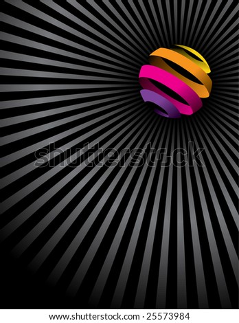An interesting abstract vector globe background with space for text