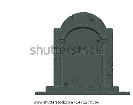 An isolated gravestone on transparent background  ストックフォト ©