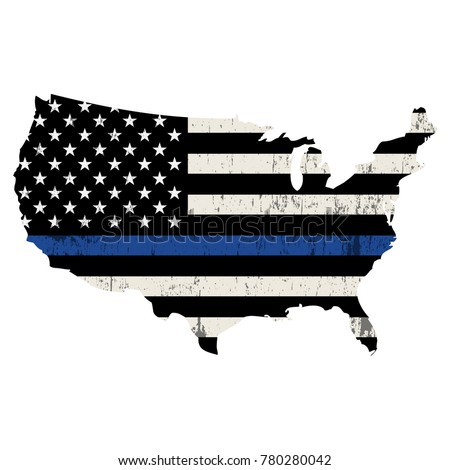 an isolated police support flag