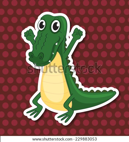 An isolated toy crocodile
