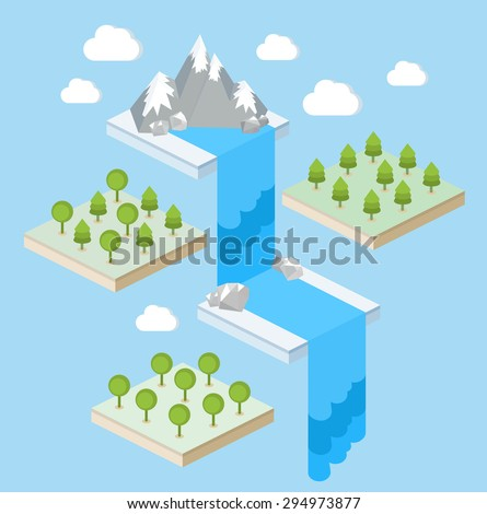 an isometric view of a