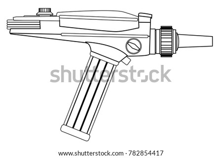 an old style ray gun as may