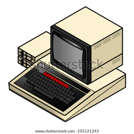An old vintage/retro 8-bit computer.