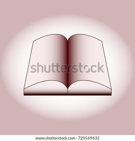 An open book on a lighted background,vektor,simbol,ikona,dizajn. Zdjęcia stock ©