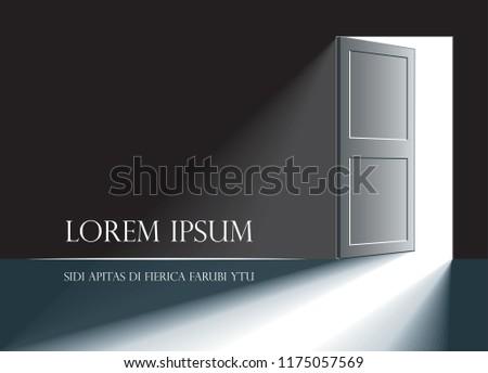 an open door in a dark room