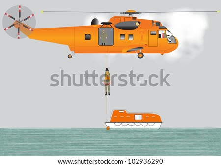 an orange search and rescue