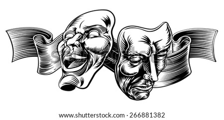 theatre face mask vectors download free vector art stock graphics