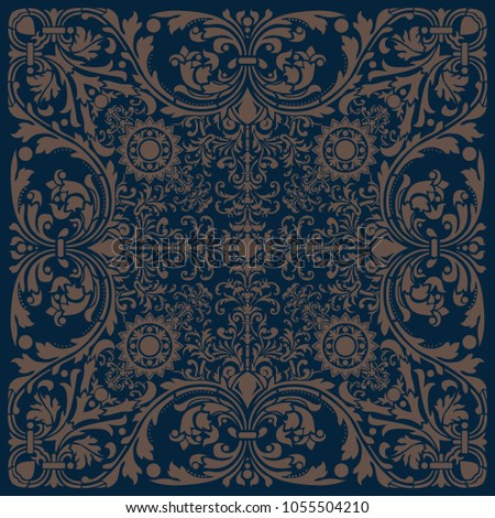 an ornate pattern tile in a