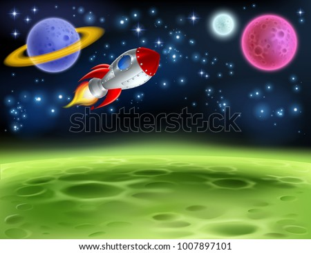 an outer space planet or alien
