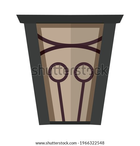 An unusual and interesting magic door. Flat design. Icon for the site. Vector illustration for print or book. The door to a fairy tale.