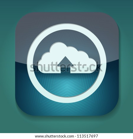 an upload icon with cloud