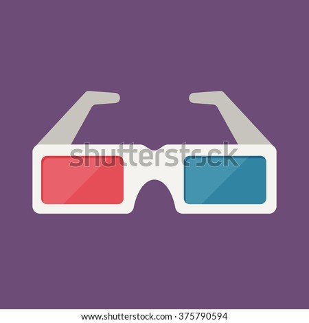 3d glasses free vector 4vector for 3d flat design online