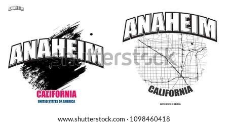 anaheim  california  logo...