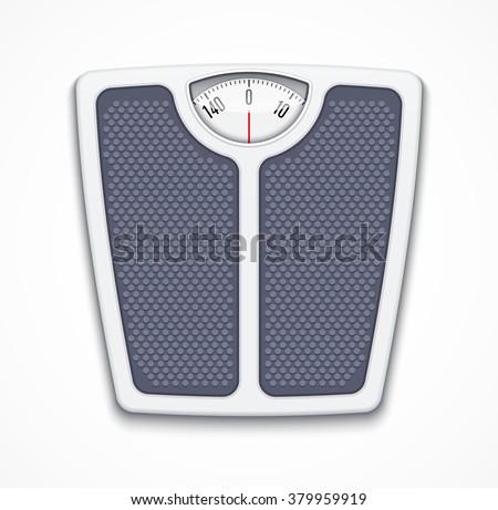 Analog bathroom scale
