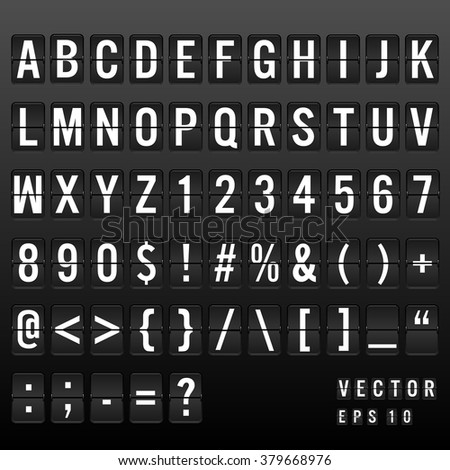 analog font mechanical