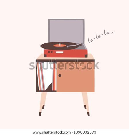 analog music player or