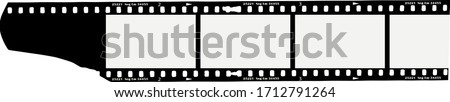 analog photographic film, empty filmstrip with picture frames, vector